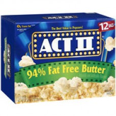 Act II 94% Fat Free Butter Popcorn, 2.71 oz, 3ct