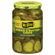 Mt. Olive Bread And Butter Chips Old Fashioned Sweet Pickles, 16 fl oz