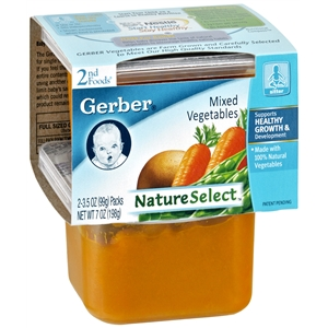 Gerber 2nd Foods NatureSelect Baby Food, Mixed Vegetables