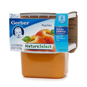 Gerber 2nd Foods NatureSelect Baby Food, Peaches