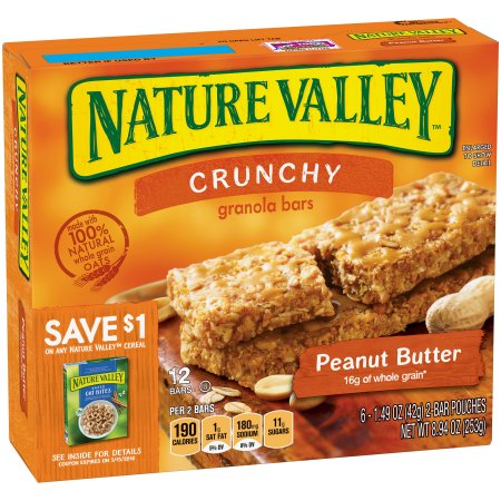 Nature Valley Peanut Butter Crunchy Granola Bars   6pk /2 ct Pouches